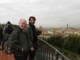 Enjoying the view over the city from the Piazzale Michelangelo with Stefano, our guide. , Catherine E - February 2014
