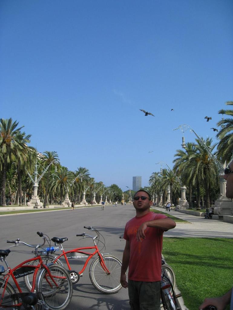 Our tour guide on the Barcelona Bike Tour - Barcelona