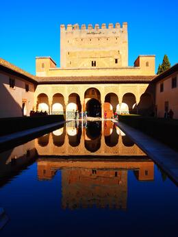 Photo of Granada Skip the Line: Alhambra and Generalife Gardens Half-Day Tour Spectacular reflection of the Alhambra Palace
