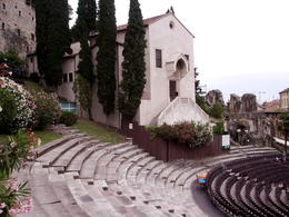The theatre is set in a stunning location overlooking the River Adige. , rustyruth - June 2013