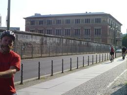 Here we are with Tom by one of the remaining sections of the Berlin Wall. , Ollie - August 2013