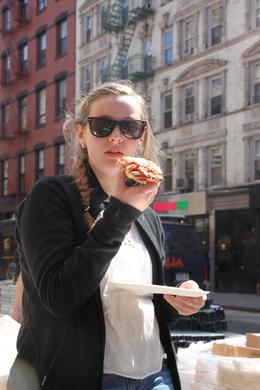 Photo of New York City Pizza Walking Tour of Manhattan Trying a Sicilian slice at Ben's in SoHo