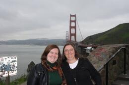 Us in front of the Golden Gate - April 2010