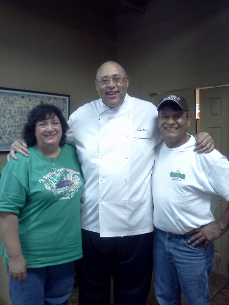 Vic and I with Chef Kevin - New Orleans