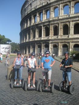 Erin, Danina, Nick and David on the Segway tour of Rome, Danina S - August 2009