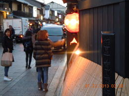 Evening walk at the street of Gion , Viroon S - January 2013