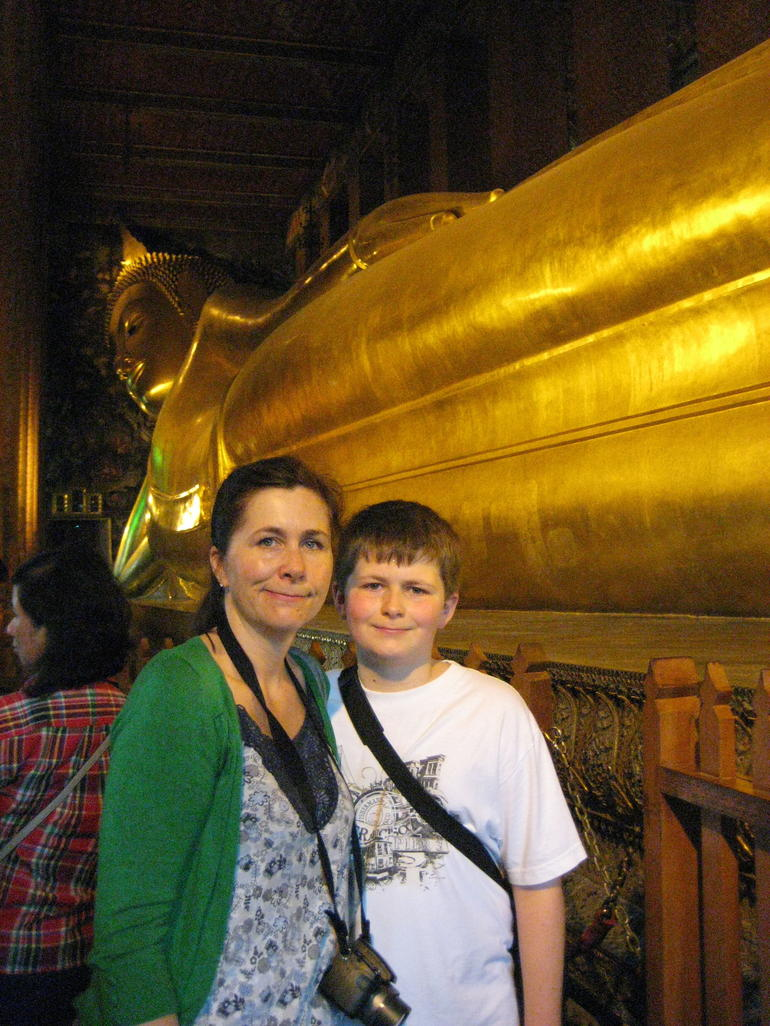 Dominic and Me at Reclining Buddha - Bangkok