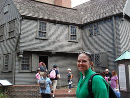 Katie in Paul Revere's back yard. , Keith K - August 2012