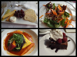 Our appetizer, salad, entree and dessert. All excellent. , Dawn C - April 2014