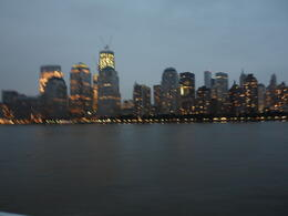 NYC starting to light up as the sun goes down, photos can never do this sight justice. , Catherine T - September 2011