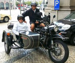 Photo of Lisbon Private Tour: Best of Lisbon by Sidecar Outside of Avenida Palace, Saddled Up To See Lisbon