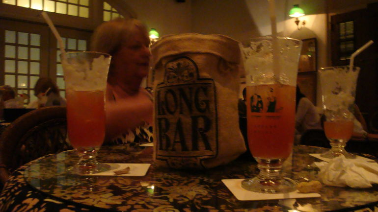 The drink Singapore Sling, very nice