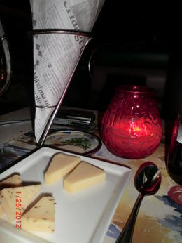 Delicious cheeses, variety of tasty snack nuts and red or white wine makes it all complete! , Alex R - April 2012