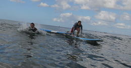 Photo of Oahu Oahu Surf Lessons: Class and Equipment at Ala Moana Beach with Round-Trip Transport Some started off better than others..