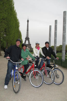 Definitely a vacation highlight, riding through Paris on our fun bike tour! , Kristin C - May 2013