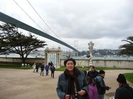 This suspension bridge which is similar to the Golden Gate Bridge in San Francisco separates the continent of Europe from Asia. Istanbul is the only city in the world that is located in both..., Rick and Ildy Vinas - May 2011
