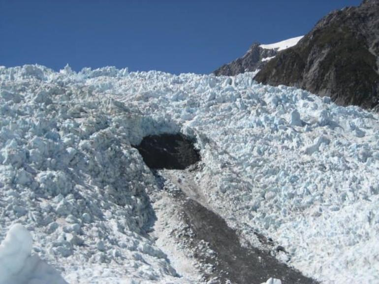 The hole - Franz Josef & Fox Glacier