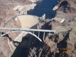 The view of the Hoover Dam and the bypass bridge was amazing from a helicopter., Nicks - November 2014