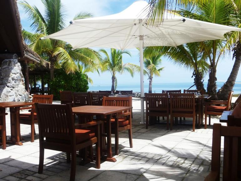 The outside area in the restaurant - Fiji