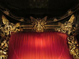 Photo of London Phantom of the Opera Theater Show The upper portion of the stage at Her Majesty's Theater in London