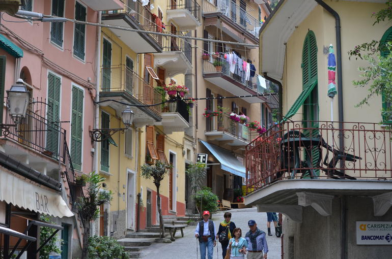 Typical street scene in Cinque Terre - Florence