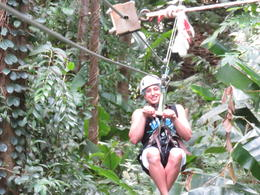 Photo of   Ziplining the Rain Forest.