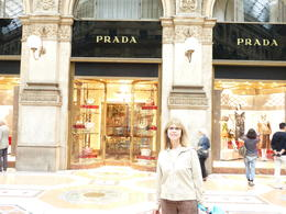 Photo of Milan Milan Half-Day Sightseeing Tour with da Vinci's 'The Last Supper' At the Galleria in front of the Prada store
