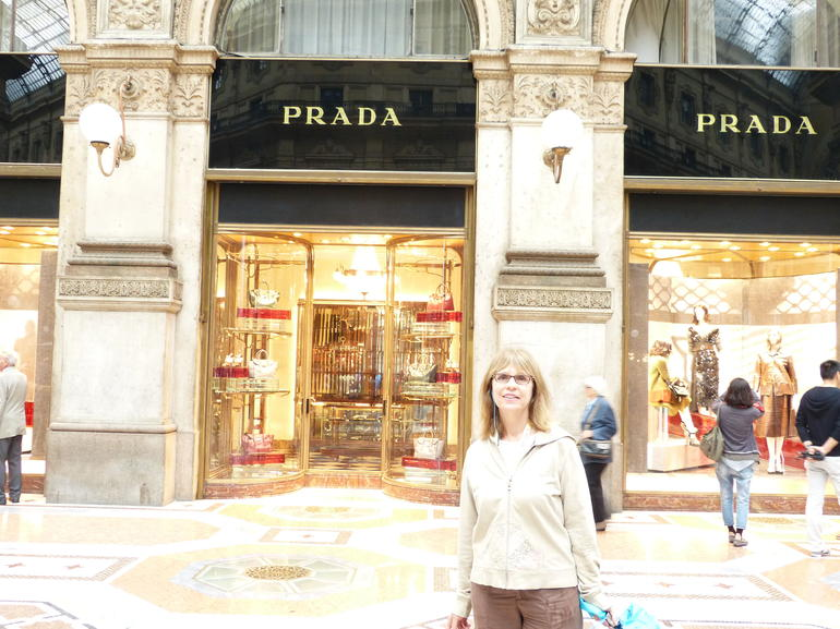 At the Galleria in front of the Prada store - Milan
