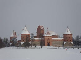 Picture of the Trakai Castle. You wouldn't believe it is in the middle of a lake by looking at it. , mattyhouser - February 2011