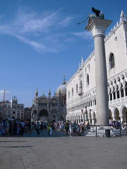 St Marks Basilica and the Doge at the start of the walking tour. , HARRY S - September 2011