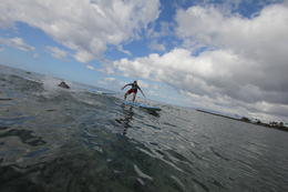 Photo of Oahu Oahu Surfing or Stand-Up Paddleboarding Lessons He's up!