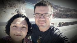 John and Rosie Hoover Dam 2015 , Rosie R - June 2015