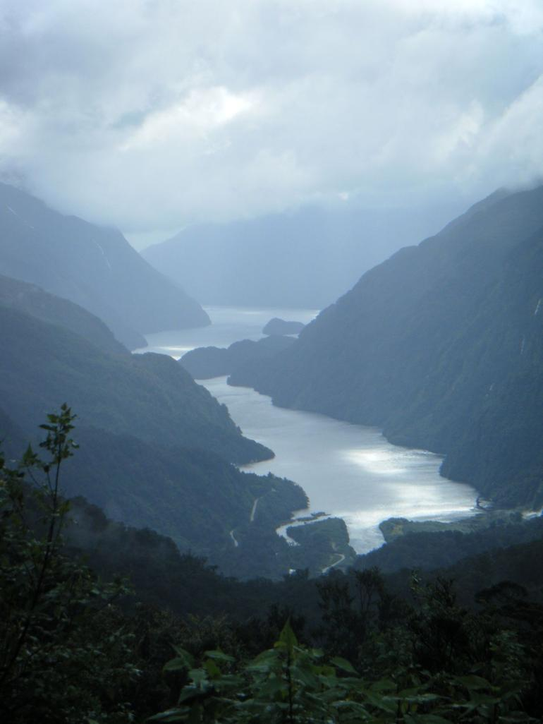 Looking down at Doubtful Sound - Fiordland & Milford Sound