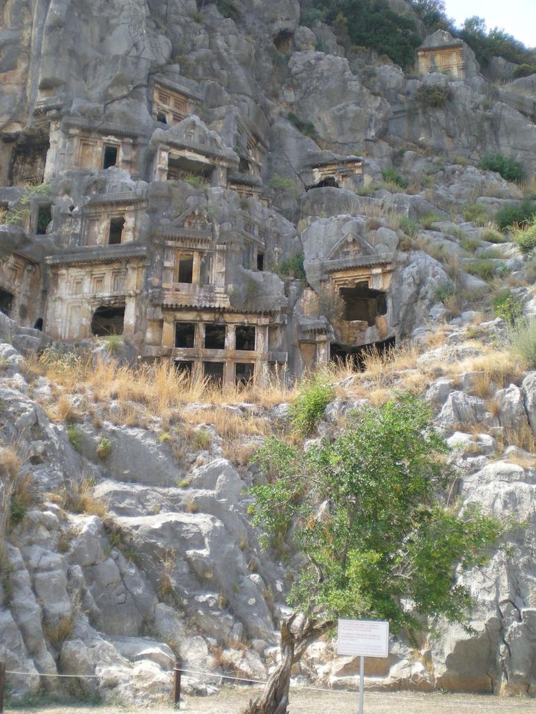 Myra Rock Tomb. Greek Architecture. - Antalya
