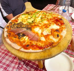 Photo of Rome Rome Pizza Walking Tour Pizza with 3 different toppings!