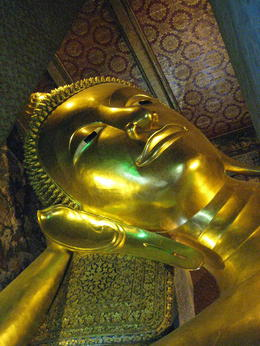 Photo of Bangkok Private Tour: Bangkok Temples including reclining Buddha at Wat Pho Reclining Buddha Head