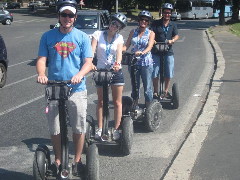 Rome Traffic: No Problems with Segways - Rome