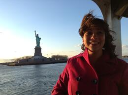 View of the Statue of Liberty from the Ferry , Brandy M - January 2014