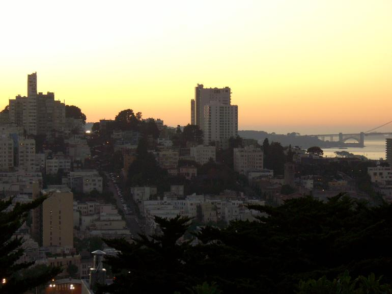 Sunset view from Coit Tower, North Beach - San Francisco
