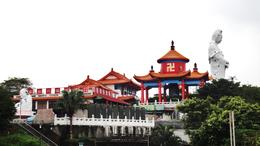Photo of Taipei Northern Coast Half-Day Tour including Yehliu Park from Taipei A view of a Temple and Buddha in Keelung