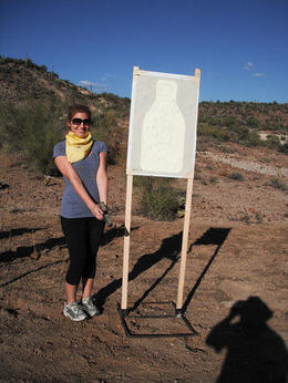 Photo of Phoenix Phoenix Shooting Range: Firearms Course & Firing Line Shooting Amy and her target