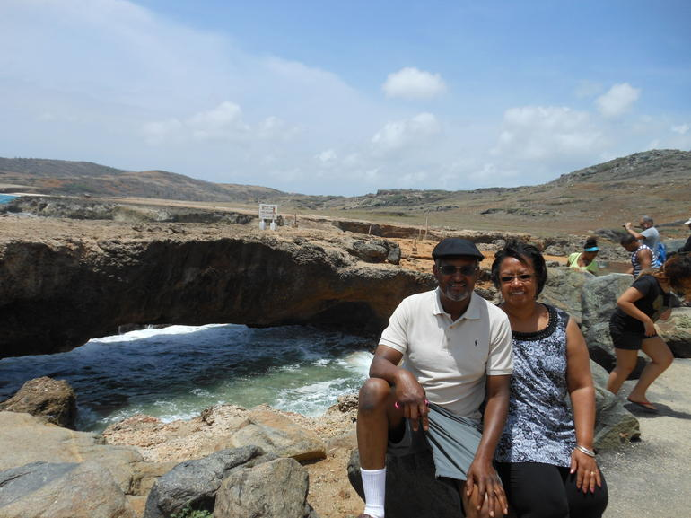 At the Natural Bridge - Aruba