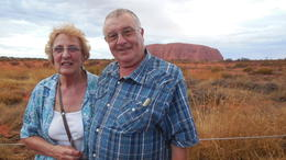 Malcolm and Betty Stringer evening at Ayers Rock , MR M R Stringer S - April 2013