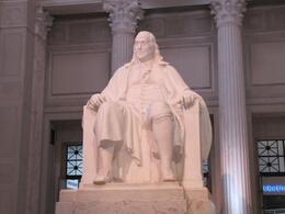 Photo of   Ben Franklin Statue at Franklin Institute