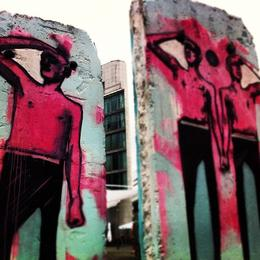 Berlin Wall art, Ryan & Asha - September 2012