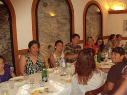The inside of the restaurant that served us 3 types of pasta and 2 types of wine. Our small group. , LESLIE W - June 2012