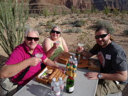 My husband and myself celebrating our 25th wedding anniversary inside the canyon. My son is also in the photo.. What a fab memory!!!!!!!! , Roy W - October 2013