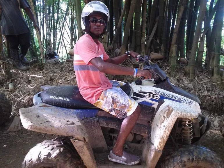 Hubby on his ATV - Montego Bay