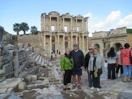 The four of us at the ancient Ephesus Library. , c.westhafer - November 2014