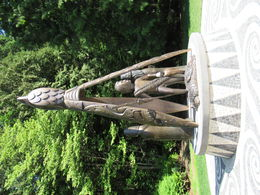 Totem Pole Garden at Stanley Park , Katherine H - August 2015